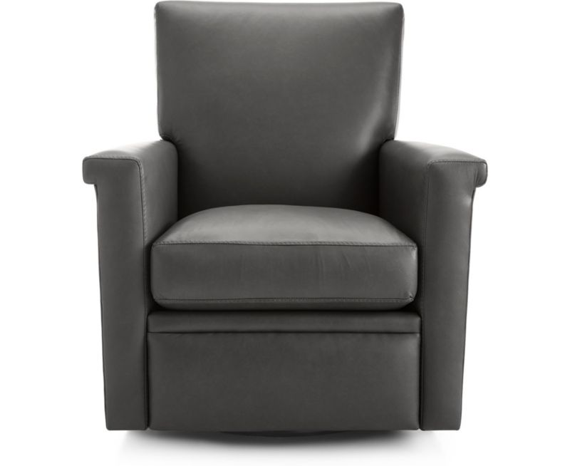 Declan Leather 360 Swivel Recliner In Chairs Reviews