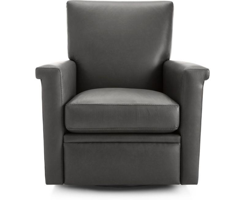 Stupendous Declan Leather 360 Swivel Recliner Theyellowbook Wood Chair Design Ideas Theyellowbookinfo