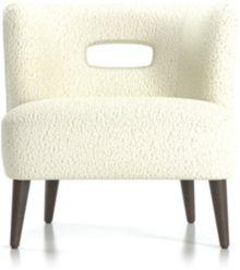 Mimi Vegan Lambskin Chair shown in Lammy, Winter White