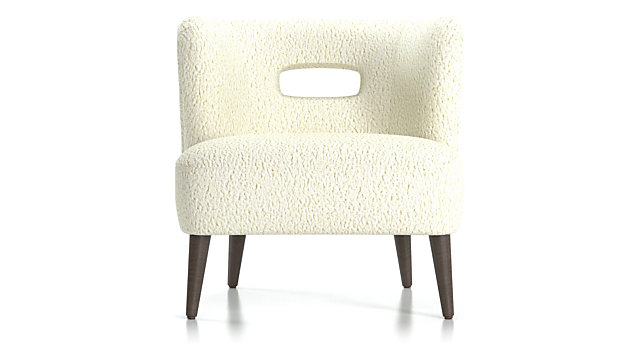 Mimi Vegan Lambskin Chair shown in Lammy, Winter White
