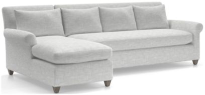 Cortina 2-Piece Left Arm Chaise Sectional(Left Arm Chaise, Right Arm Sofa) shown in Winward, Snow