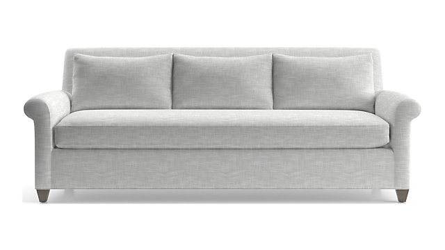 Cortina Sofa shown in Winward, Snow