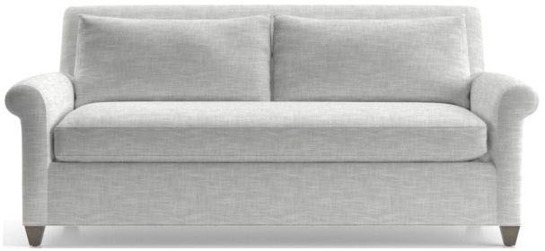 Cortina Apartment Sofa shown in Winward, Snow