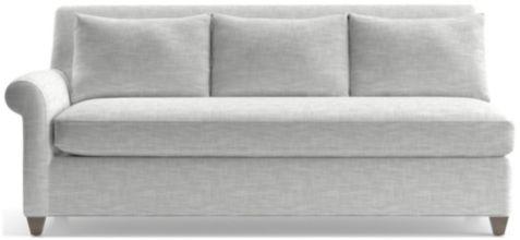 Cortina Left Arm Sofa shown in Winward, Snow