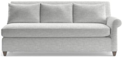 Cortina Right Arm Sofa shown in Winward, Snow