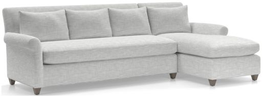 Cortina 2-Piece Right Arm Chaise Sectional(Left Arm Sofa, Right Arm Chaise) shown in Winward, Snow