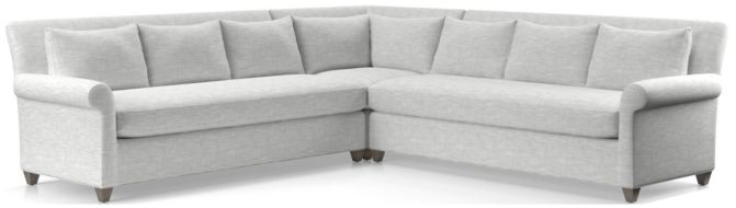 Cortina 3-Piece Sectional(Left Arm Sofa, Corner, Right Arm Sofa) shown in Winward, Snow