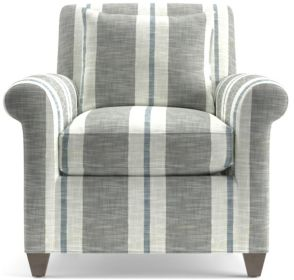 Cortina Chair shown in Winward Stripe, Storm
