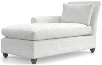 Cortina Left Arm Chaise shown in Winward, Snow
