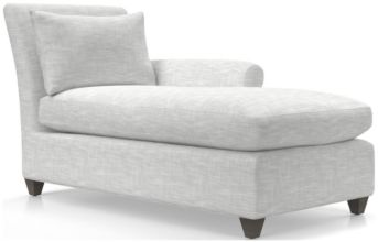 Cortina Right Arm Chaise shown in Winward, Snow
