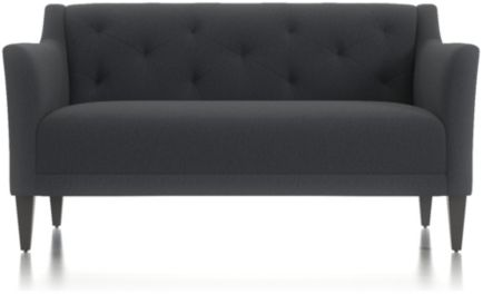 Margot II Tufted Loveseat shown in Portrait, Night