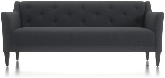 "Margot II 80"" Grande Tufted Sofa shown in Portrait, Night"