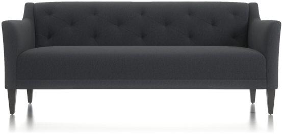 "Margot II 80"" Grande Tufted Sofa shown in Portrait, Night"