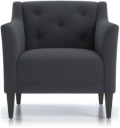 Margot II Tufted Chair shown in Portrait, Night