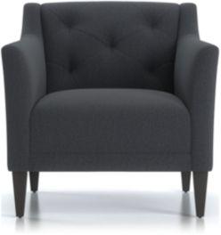 Margot II Tufted Chair shown in Portrait, Night