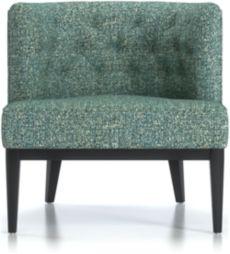 Grayson Tufted Chair shown in Twilight, Agean