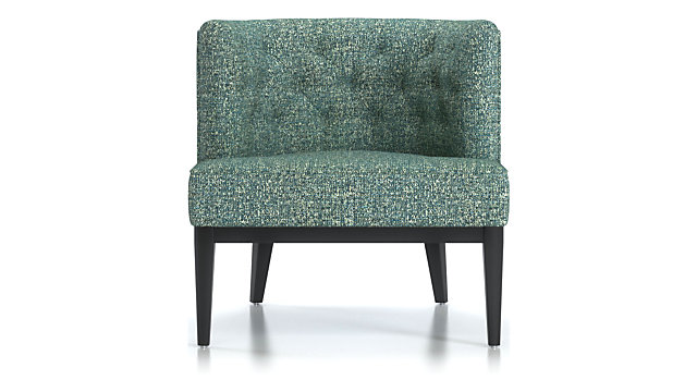 Grayson Tufted Chair shown in Twilight, Agean