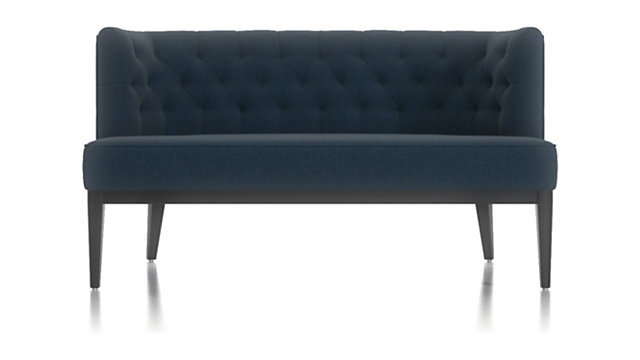 Grayson Tufted Settee shown in Luxe, Dark Blue