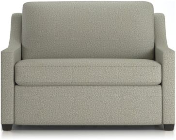 Perry Twin Sleeper Sofa shown in Nordic, Fog