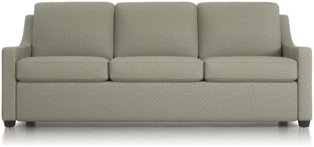 Perry King Sleeper Sofa shown in Nordic, Fog