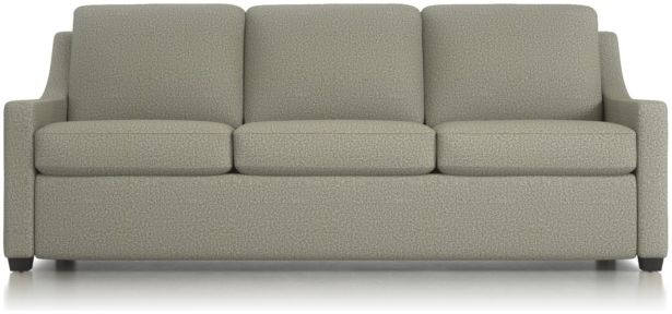Perry King Sleeper Sofa shown in Nordic, Fog