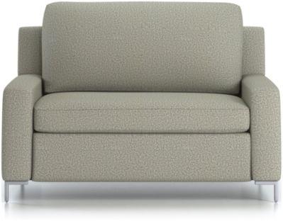 Bryson Twin Sleeper Sofa shown in Nordic, Fog