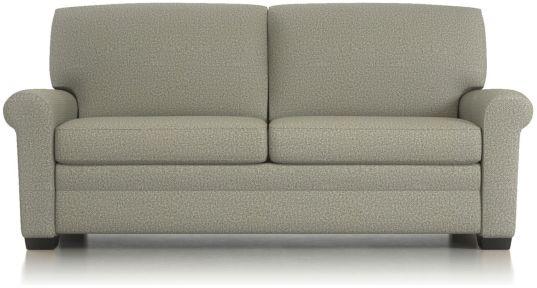 """Gaines 77"""" Queen Sleeper Sofa shown in Nordic, Fog"""