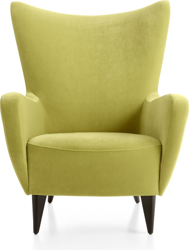 Swell Elsa Lime Green Velvet Wingback Chair Caraccident5 Cool Chair Designs And Ideas Caraccident5Info