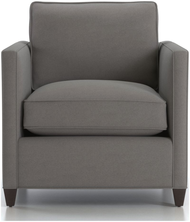 Dryden Grey Upholstered Arm Chair Reviews Crate And Barrel