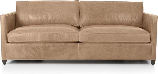 Dryden Leather Sofa shown in Libby, Mushroom