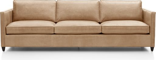 "Dryden Leather 3-Seat 103"" Grande Sofa shown in Libby, Mushroom"