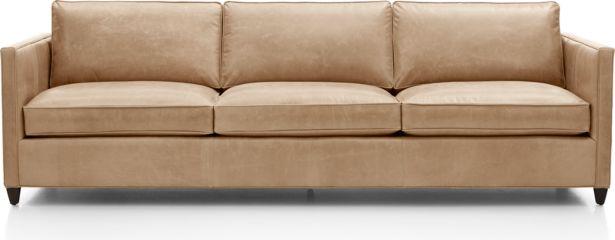 "Dryden Leather 3-Seat 103"" Grande Sofa shown in Libby, Mushroom"