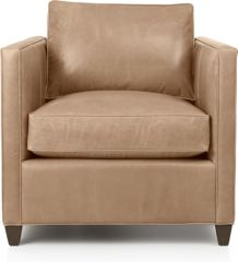 Dryden Leather Chair shown in Libby, Mushroom