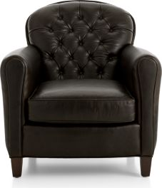 Eiffel Tufted Leather Chair shown in Tampa, Cigar