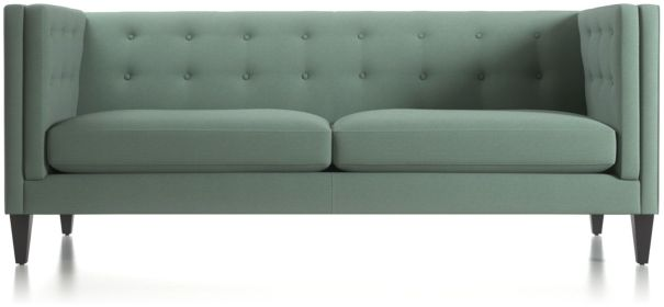 Aidan Tall Tufted Sofa shown in Cole, Bay