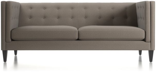 Aidan Tall Tufted Sofa shown in Cole, Nickel