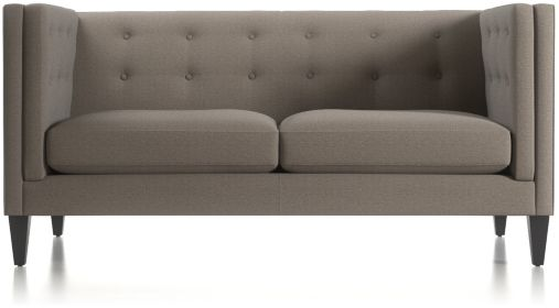 Aidan Tall Tufted Apartment Sofa shown in Cole, Nickel