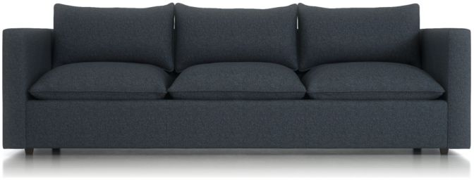 """Lotus Petite 101"""" Low Grande Sofa shown in Nordic, Sea"""