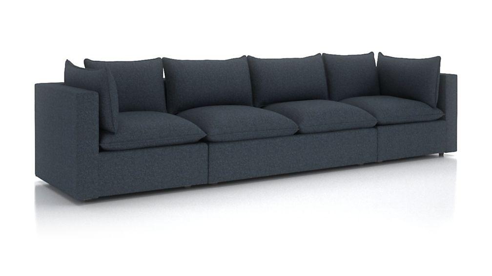 Lotus Petite Modular 3-Piece Extra Long Low Sofa Sectional - Image 2 of 3