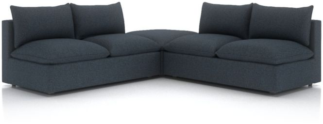 Lotus Petite Modular 3-Piece Low Sectional shown in Nordic, Sea