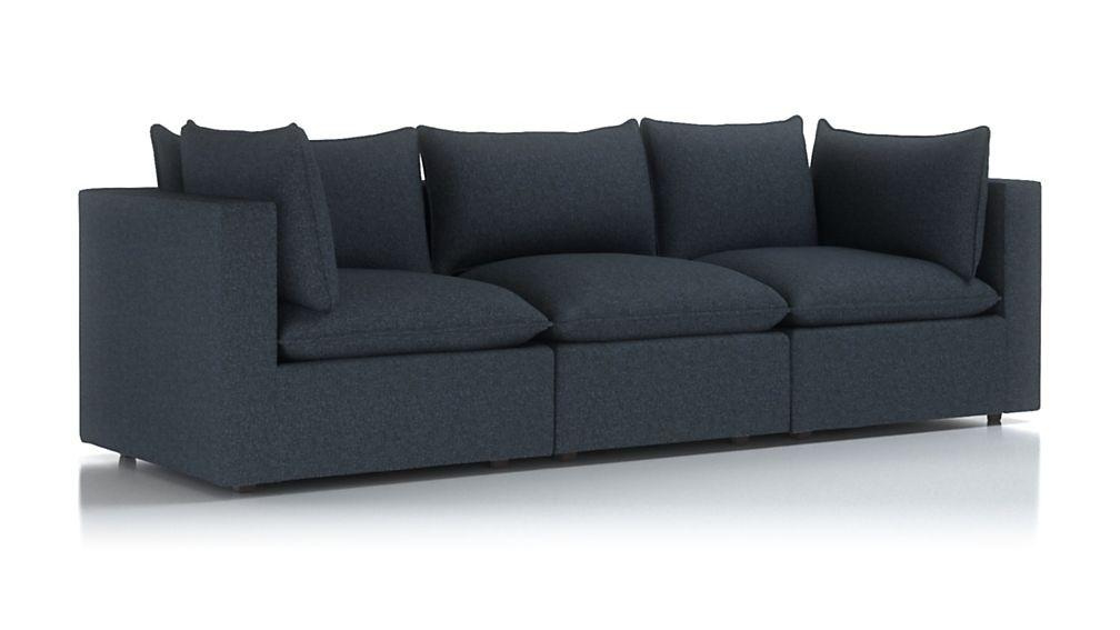 Lotus Petite Modular 3-Piece Low Sofa Sectional - Image 2 of 3