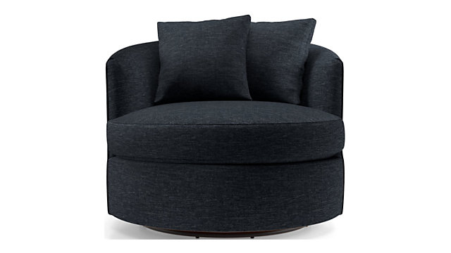 Tillie Swivel Chair shown in Darius, Navy