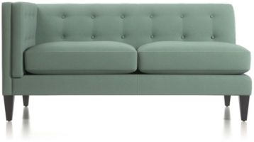 Aidan Left Arm Tufted Loveseat shown in Cole, Bay