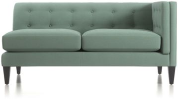 Aidan Right Arm Tufted Loveseat shown in Cole, Bay