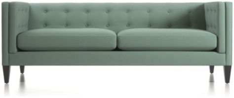 Aidan Tufted Sofa shown in Cole, Bay