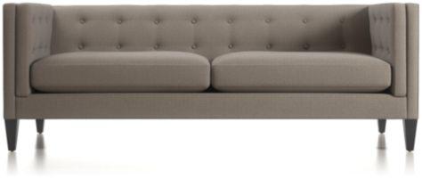 Aidan Tufted Sofa shown in Cole, Nickel