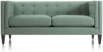 Aidan Tufted Apartment Sofa shown in Cole, Bay