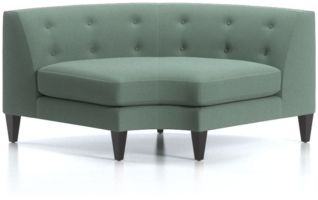 Aidan Tufted Wedge shown in Cole, Bay