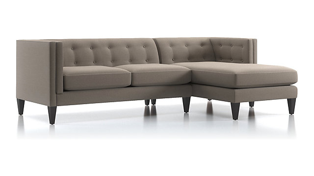 Aidan 2 Piece Right Arm Chaise Tufted Sectional Sofa
