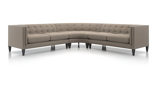 Fine Aidan Grey 3 Piece Sectional Sofa Crate And Barrel Gmtry Best Dining Table And Chair Ideas Images Gmtryco